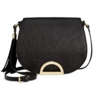 INC Black Mara Handbag Saddle Bag NWT $80